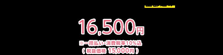 Web講義・冊子・添削課題7回分全部込みで 16,500円※一括払い・消費税率10%込(税抜価格 15,000円)